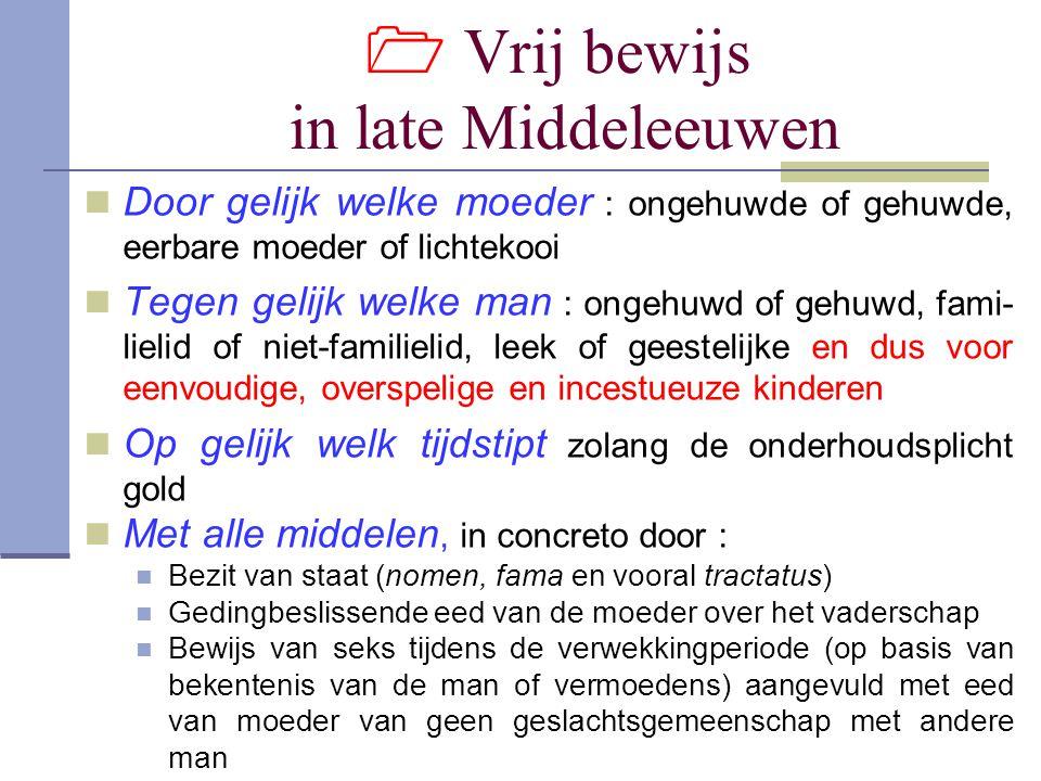  Vrij bewijs in late Middeleeuwen