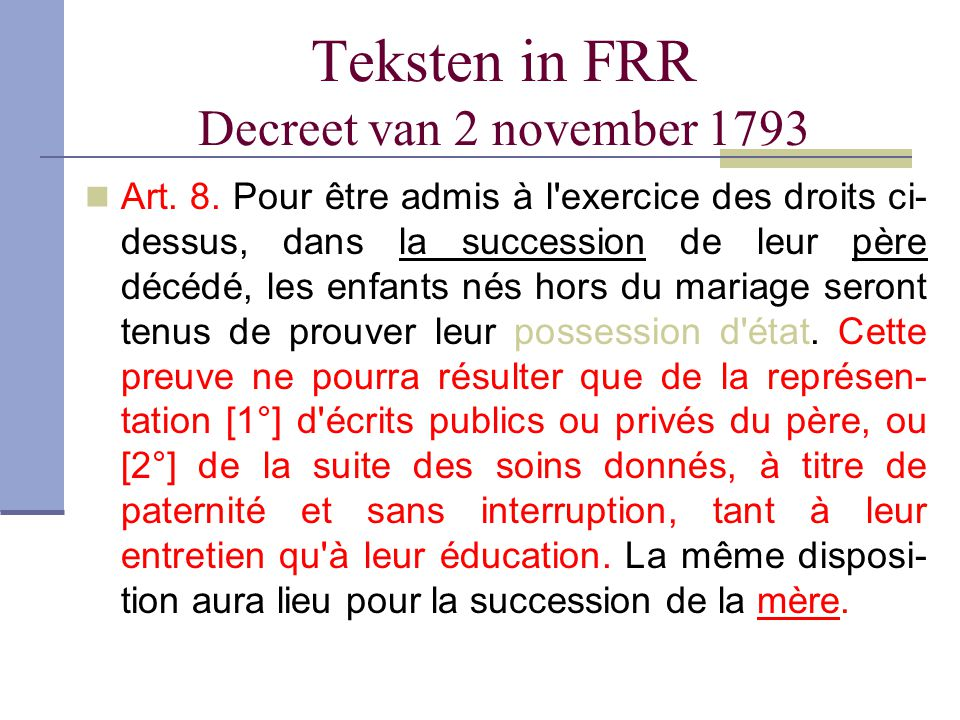 Teksten in FRR Decreet van 2 november 1793