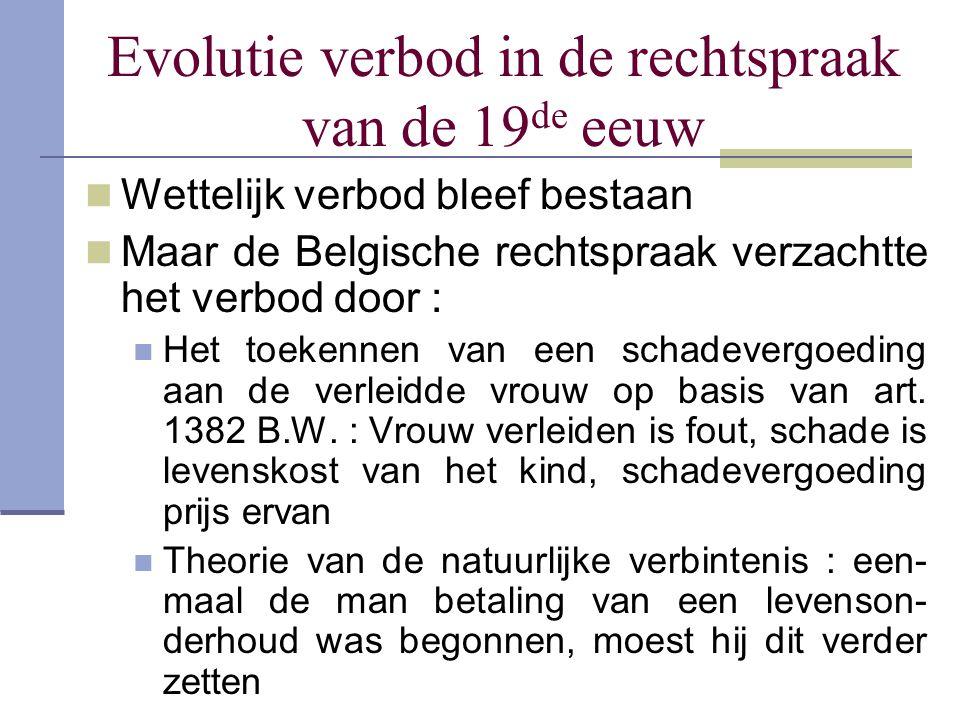 Evolutie verbod in de rechtspraak van de 19de eeuw