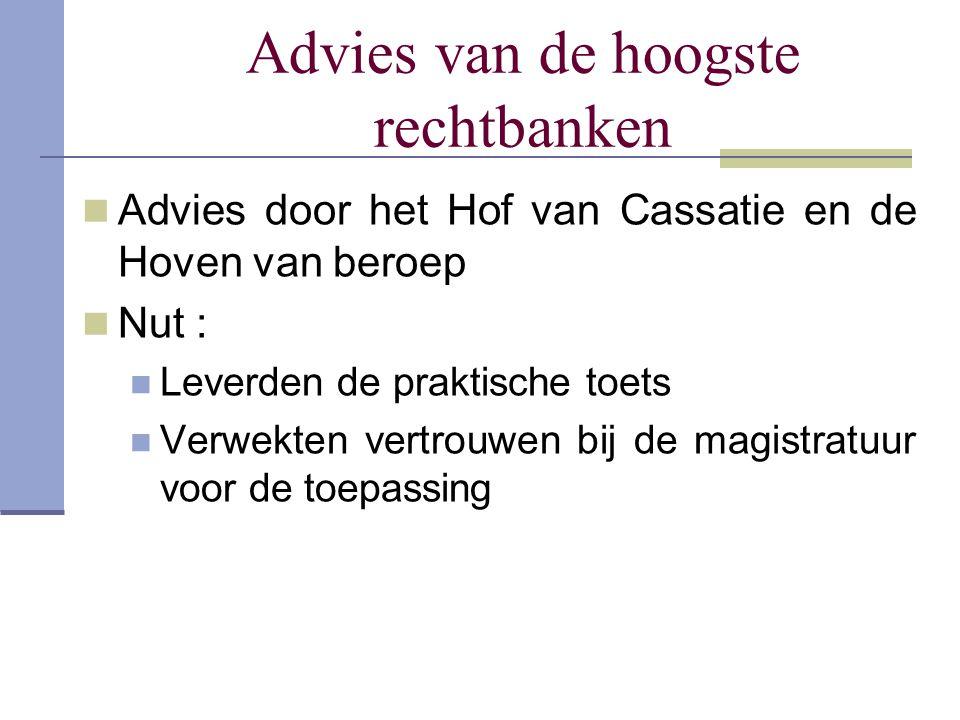 Advies van de hoogste rechtbanken