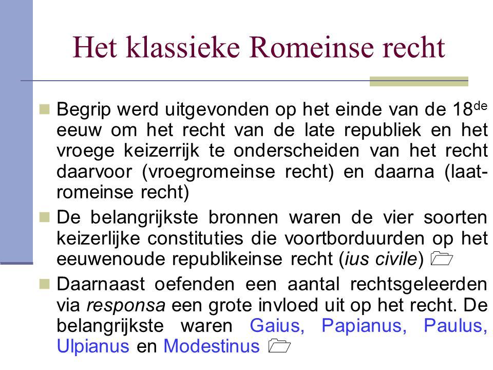 Het klassieke Romeinse recht
