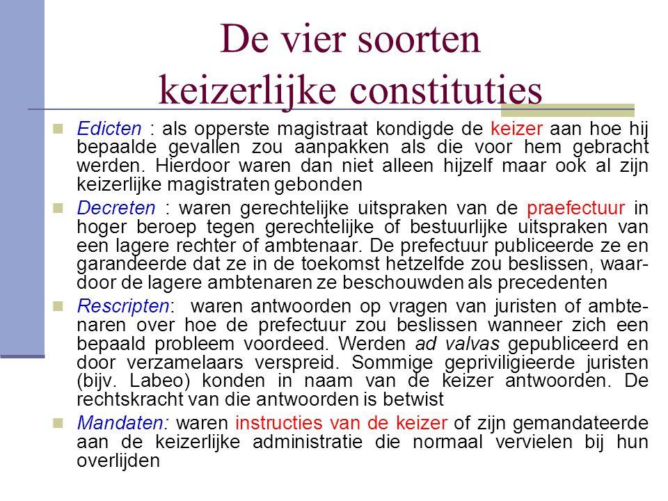 De vier soorten keizerlijke constituties