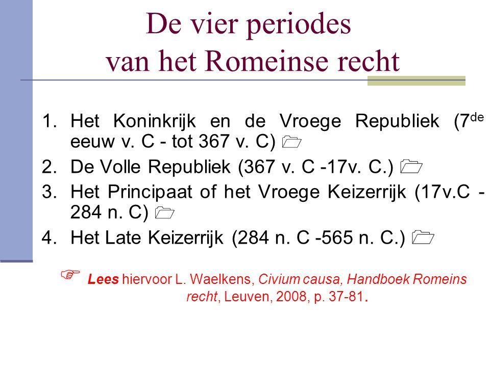 De vier periodes van het Romeinse recht