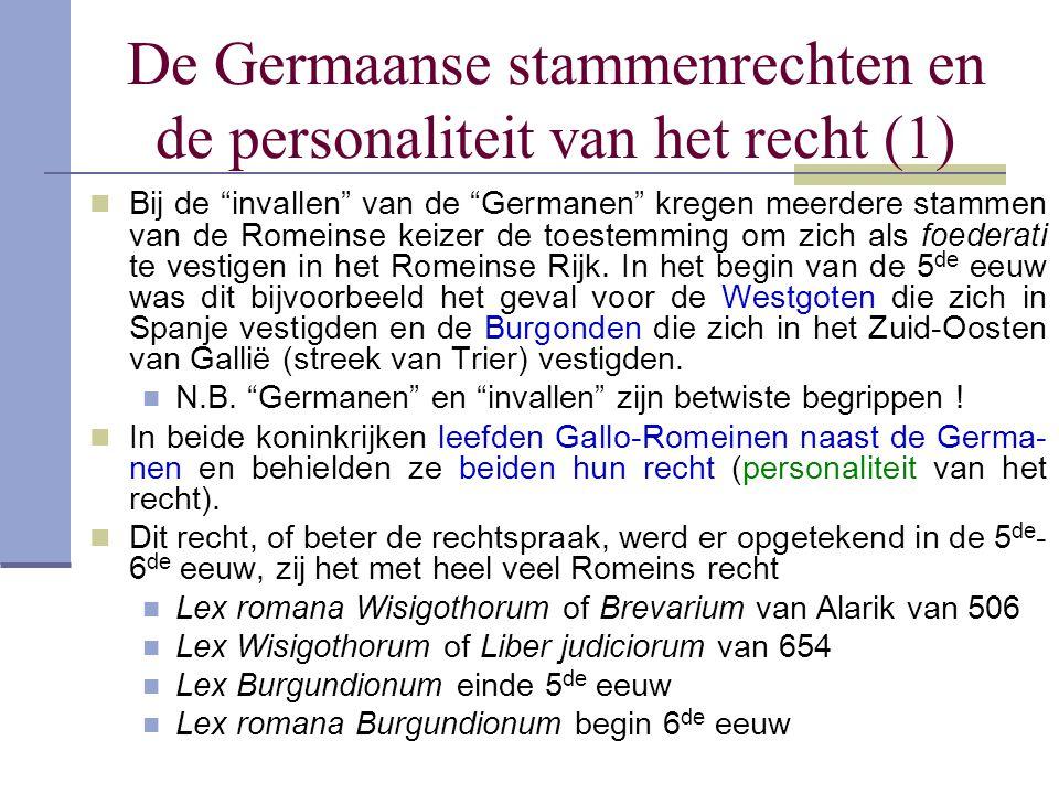 De Germaanse stammenrechten en de personaliteit van het recht (1)