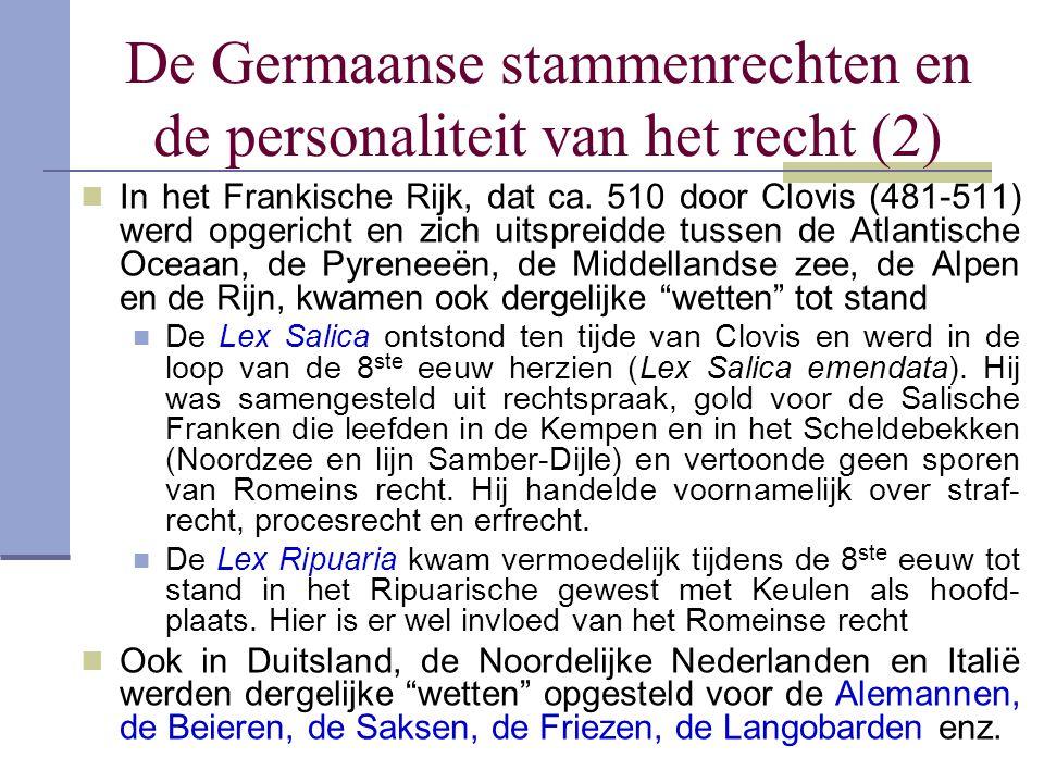 De Germaanse stammenrechten en de personaliteit van het recht (2)