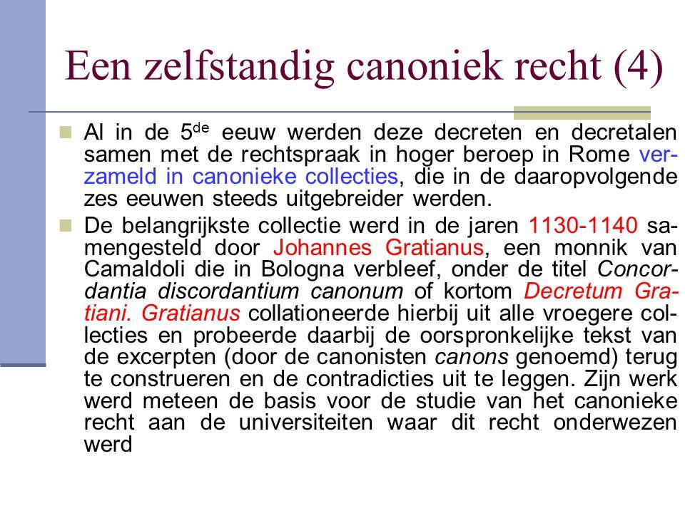 Een zelfstandig canoniek recht (4)