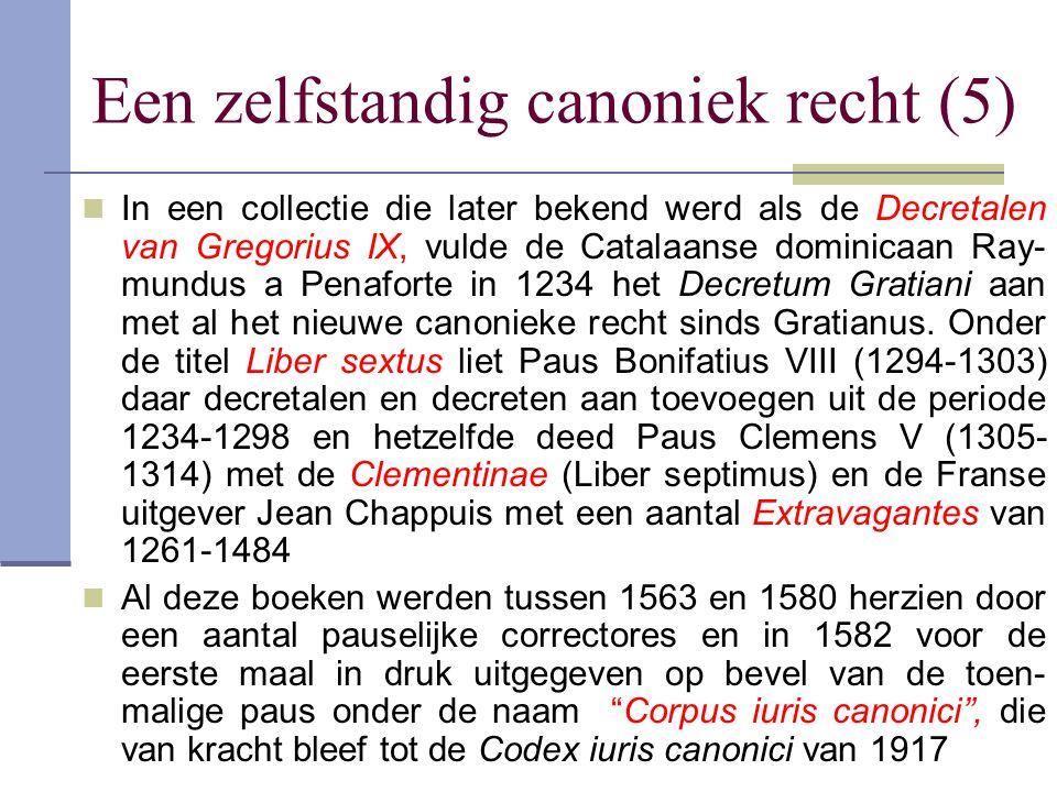 Een zelfstandig canoniek recht (5)