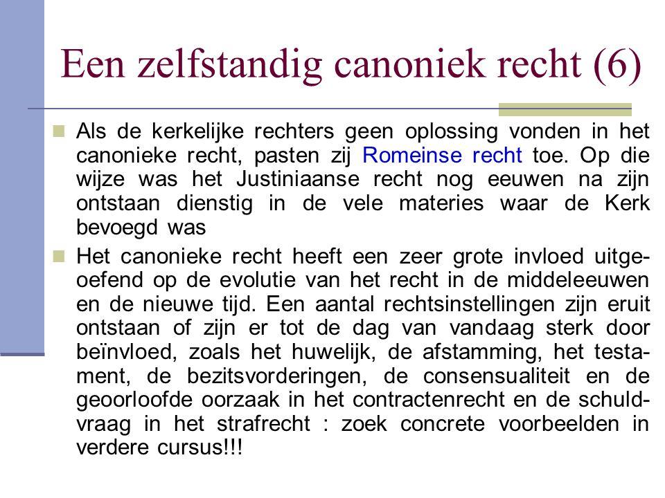 Een zelfstandig canoniek recht (6)