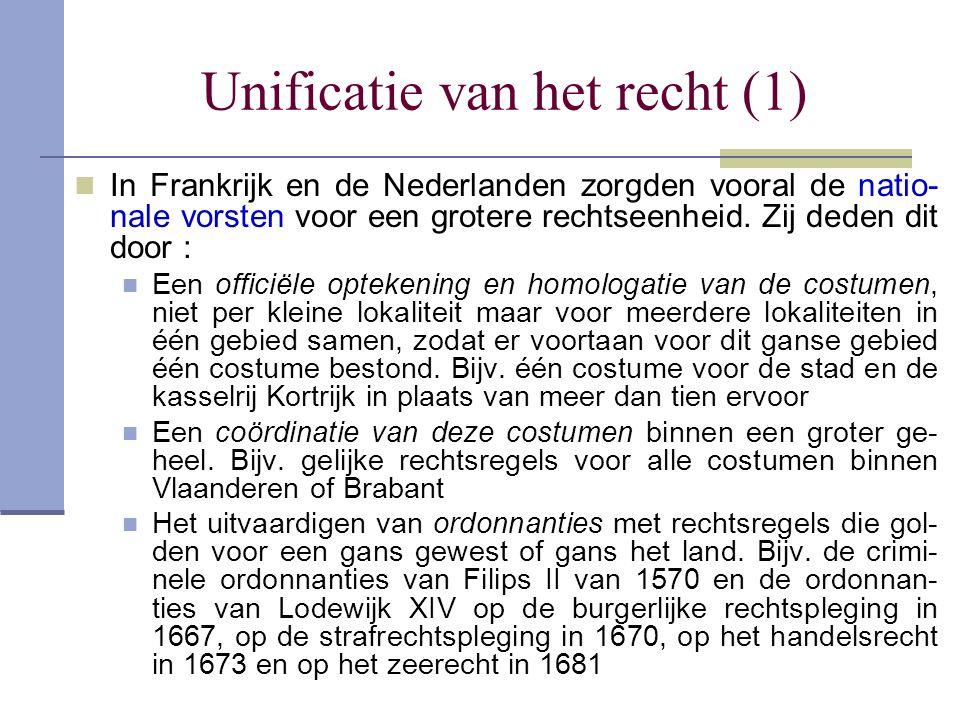 Unificatie van het recht (1)