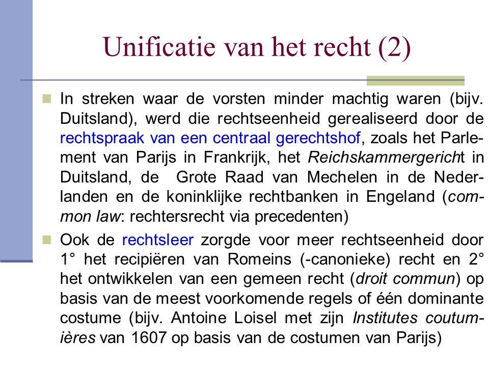 Unificatie van het recht (2)