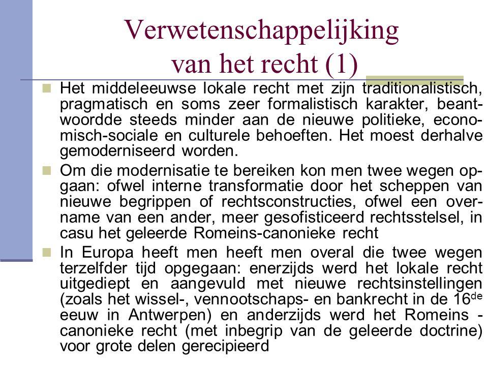 Verwetenschappelijking van het recht (1)