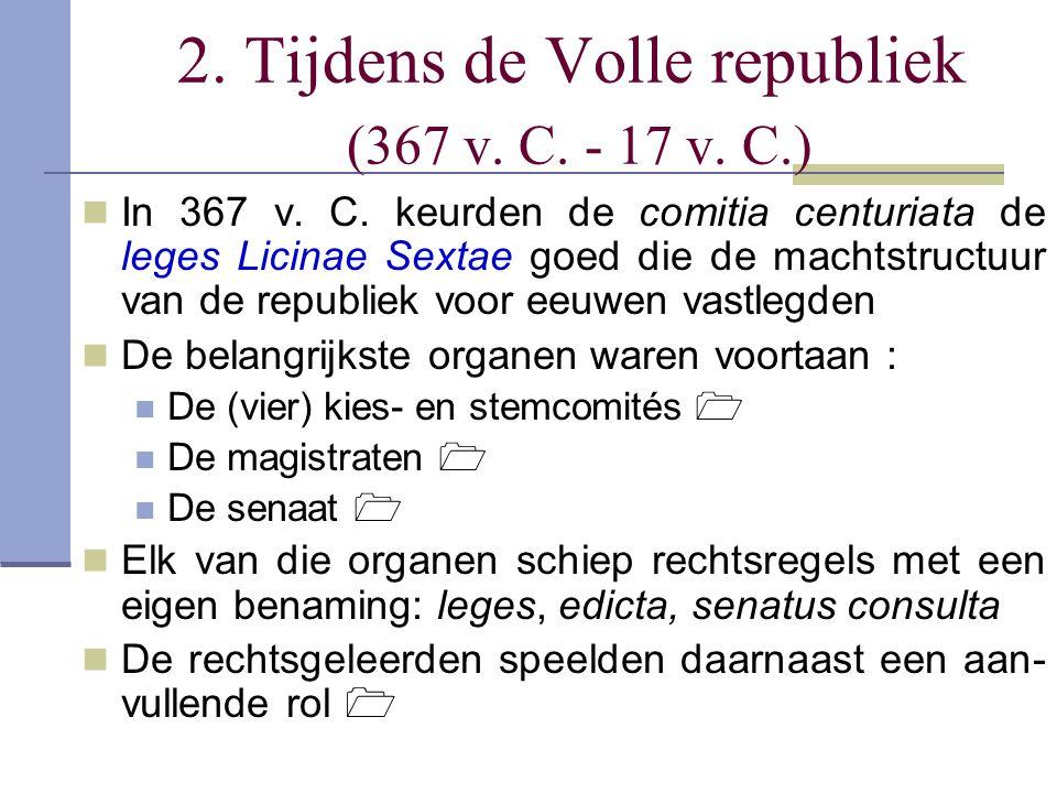 2. Tijdens de Volle republiek (367 v. C. - 17 v. C.)