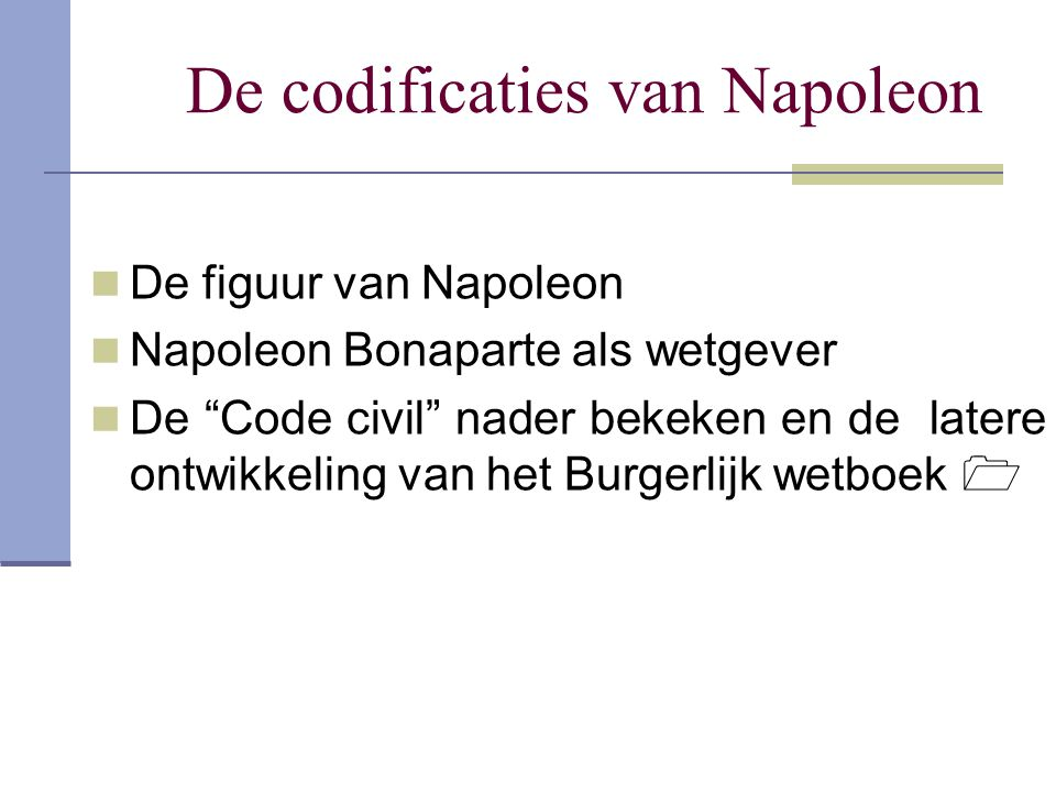 De codificaties van Napoleon