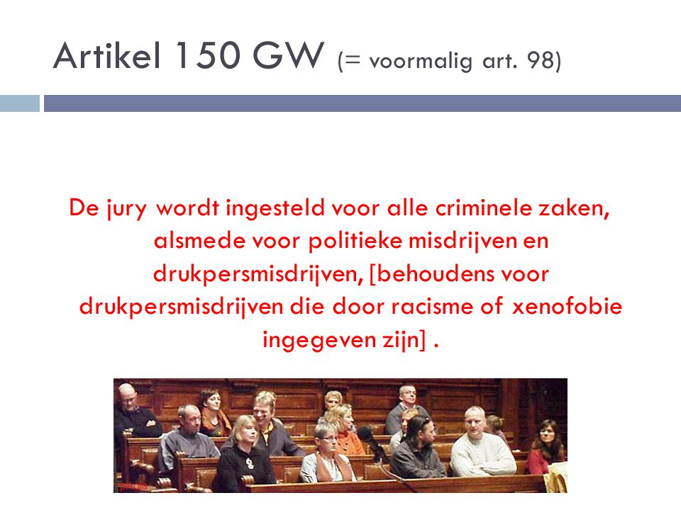 Artikel 150 GW (= voormalig art. 98)