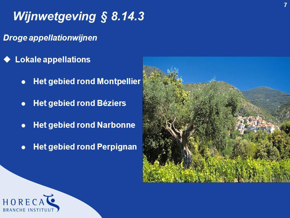 Wijnwetgeving § 8.14.3 Droge appellationwijnen Lokale appellations
