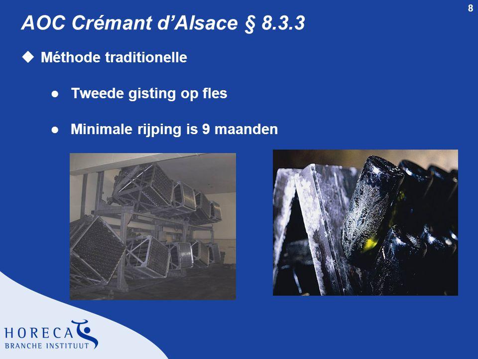 AOC Crémant d'Alsace § 8.3.3 Méthode traditionelle