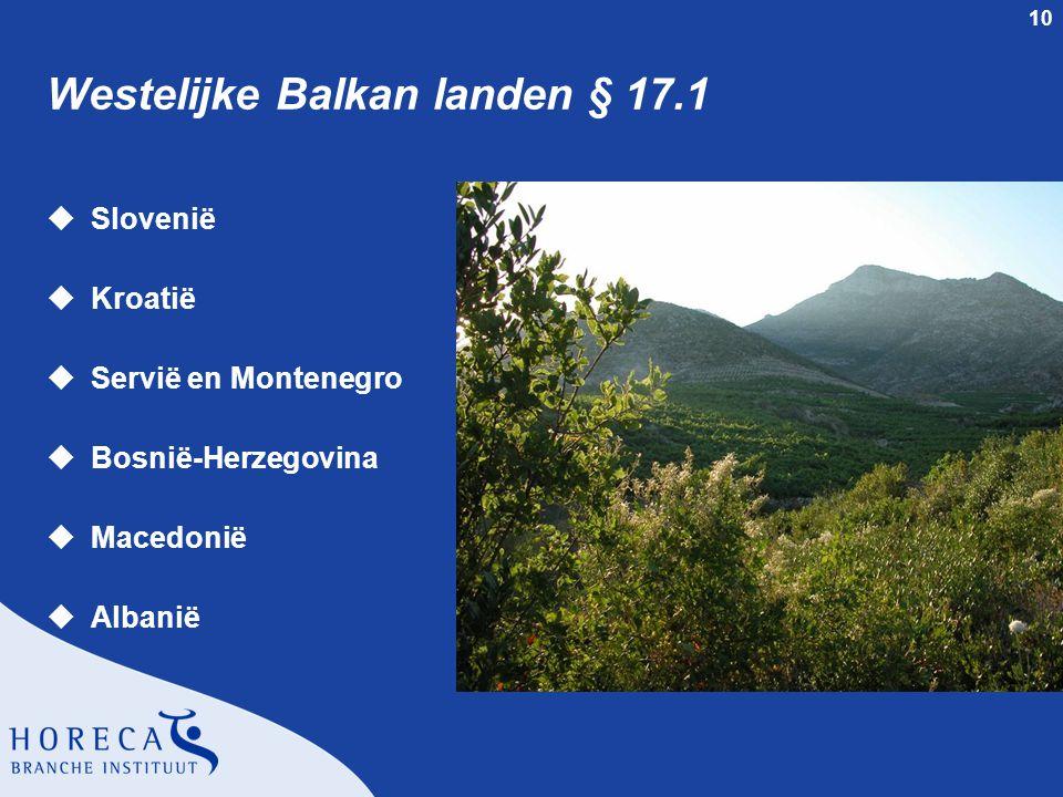 Westelijke Balkan landen § 17.1