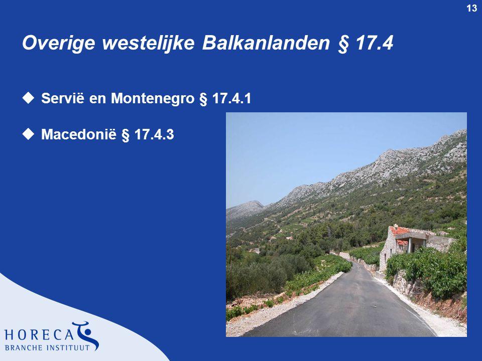 Overige westelijke Balkanlanden § 17.4