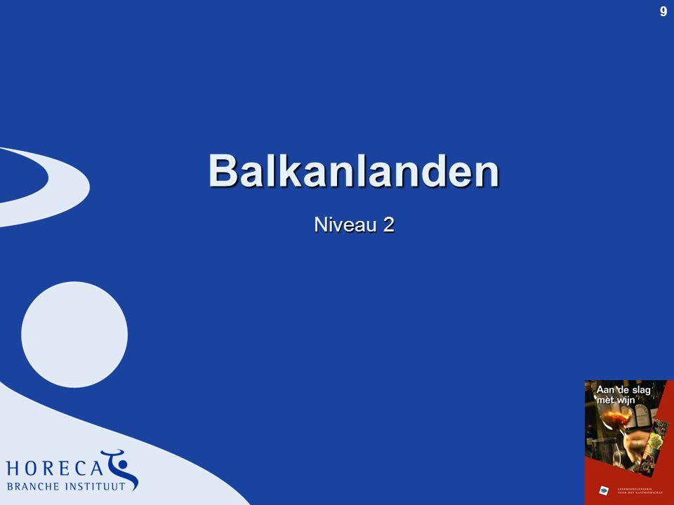 Balkanlanden Niveau 2