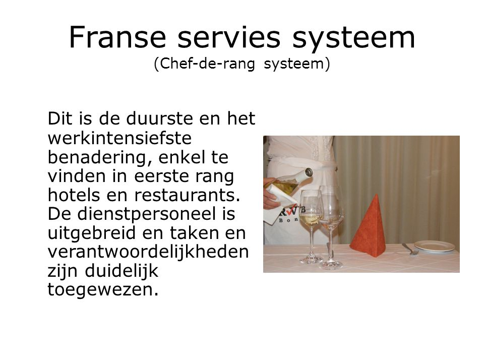 Franse servies systeem (Chef-de-rang systeem)