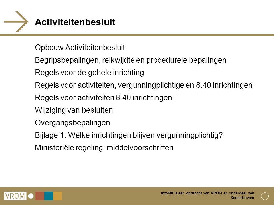 Activiteitenbesluit Opbouw Activiteitenbesluit