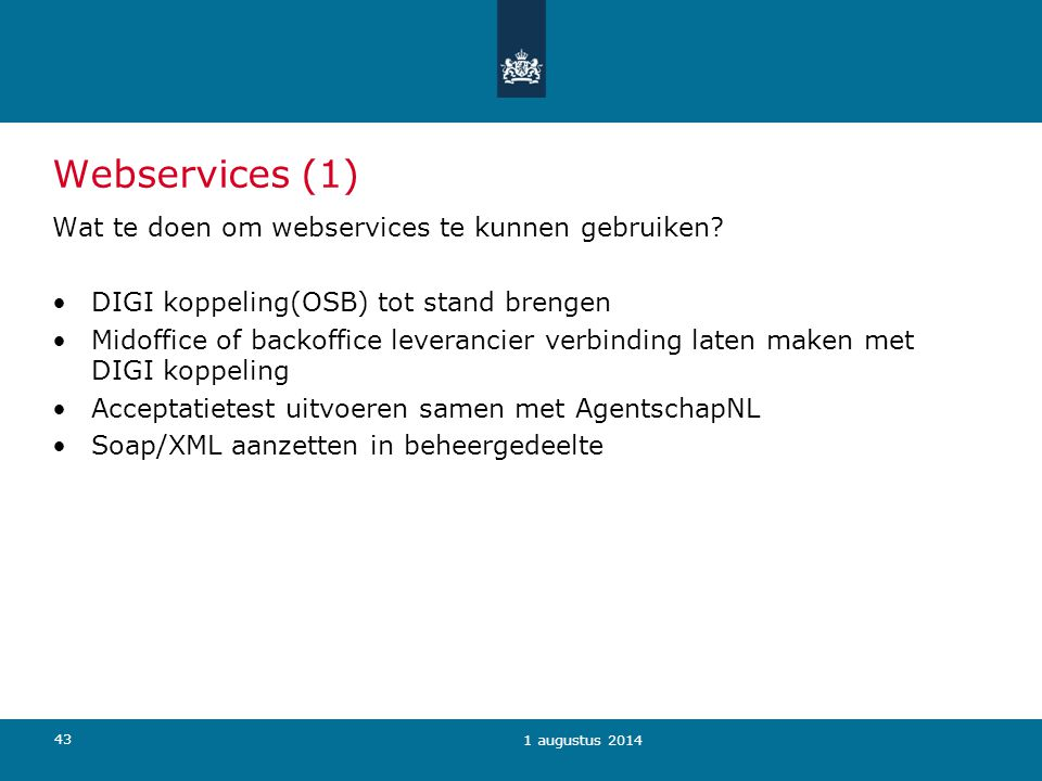 Webservices (1) Wat te doen om webservices te kunnen gebruiken