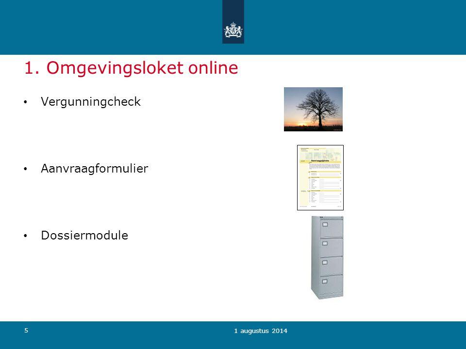 1. Omgevingsloket online
