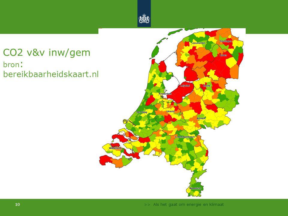 CO2 v&v inw/gem bron: bereikbaarheidskaart.nl