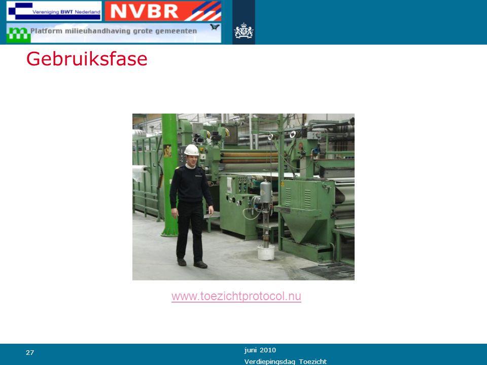 Gebruiksfase www.toezichtprotocol.nu juni 2010 Verdiepingsdag Toezicht