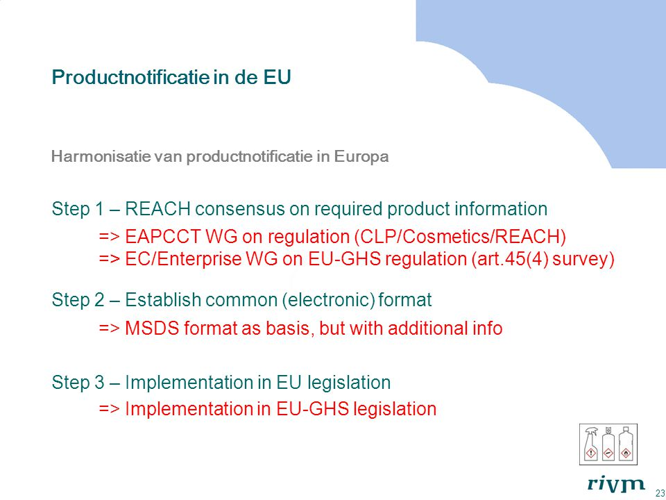 Productnotificatie in de EU