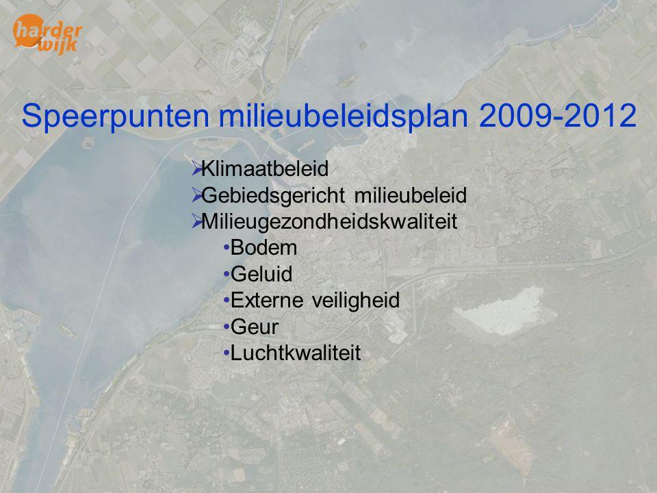 Speerpunten milieubeleidsplan 2009-2012