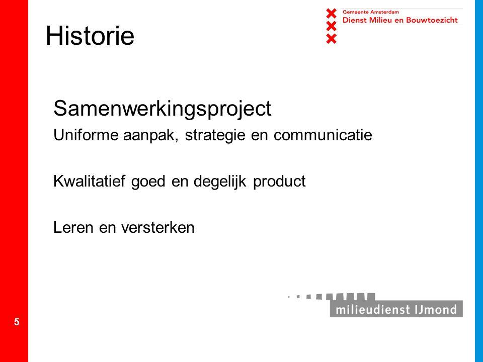 Historie Samenwerkingsproject