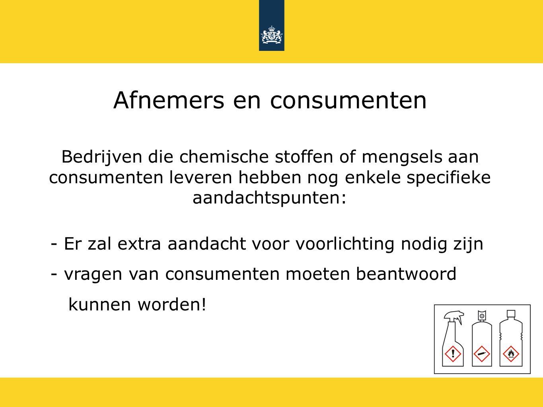 Afnemers en consumenten