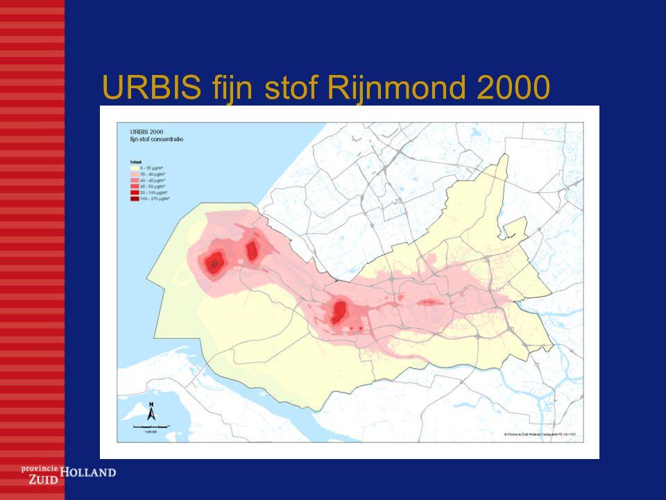URBIS fijn stof Rijnmond 2000