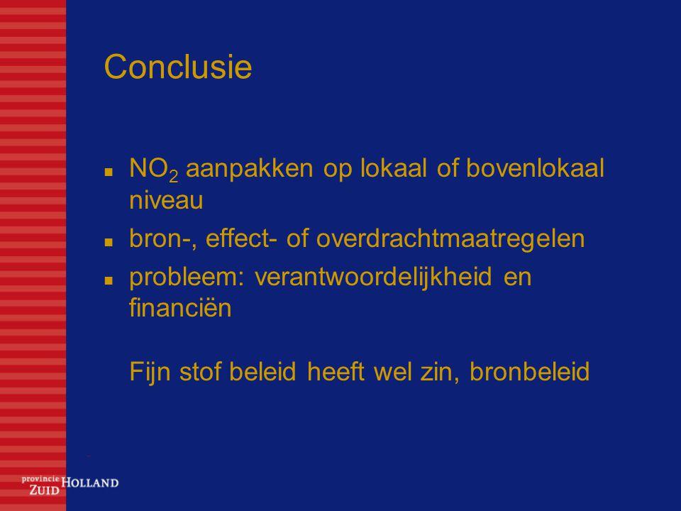 Conclusie NO2 aanpakken op lokaal of bovenlokaal niveau