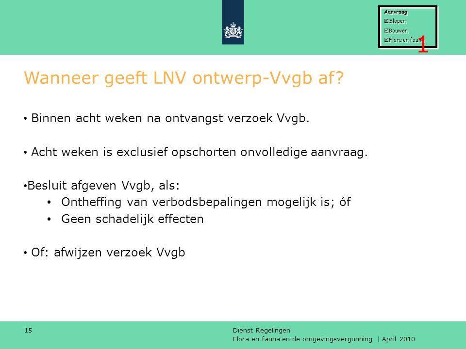 Wanneer geeft LNV ontwerp-Vvgb af