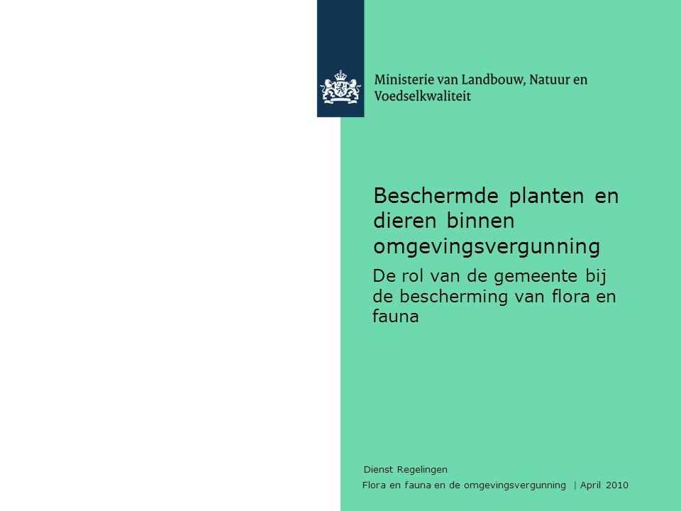 Beschermde planten en dieren binnen omgevingsvergunning