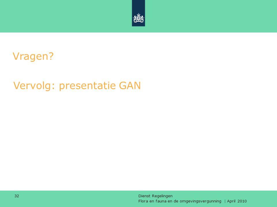 Vervolg: presentatie GAN