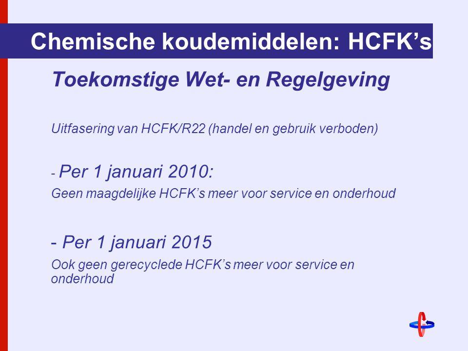 Chemische koudemiddelen: HCFK's