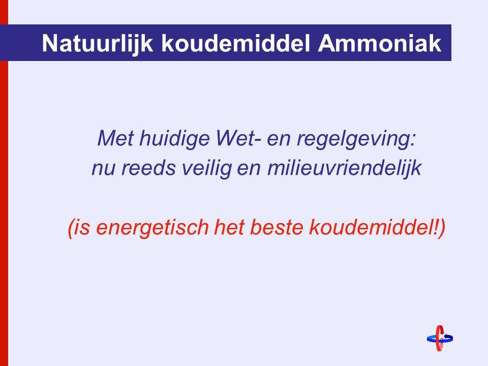Natuurlijk koudemiddel Ammoniak