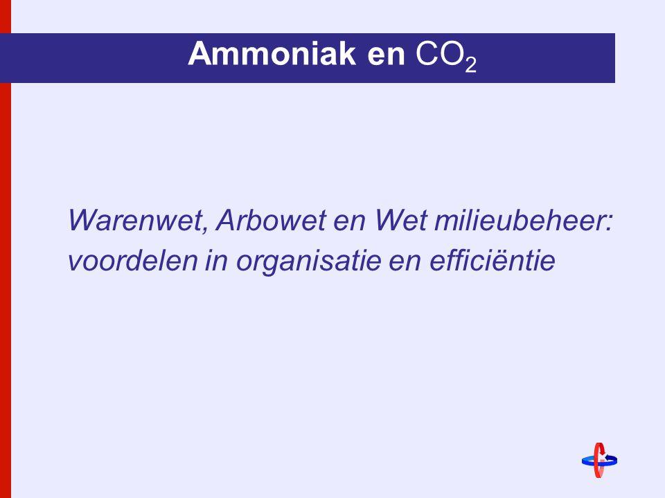 Ammoniak en CO2 Warenwet, Arbowet en Wet milieubeheer: