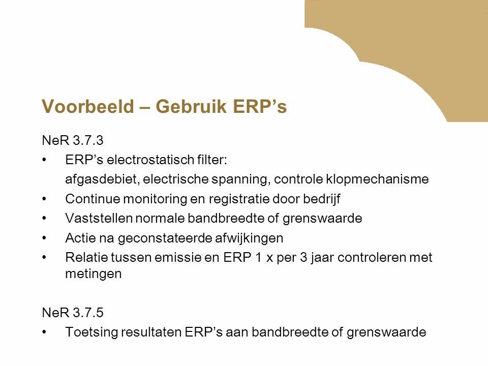 Voorbeeld – Gebruik ERP's
