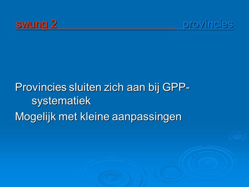 Provincies sluiten zich aan bij GPP-systematiek