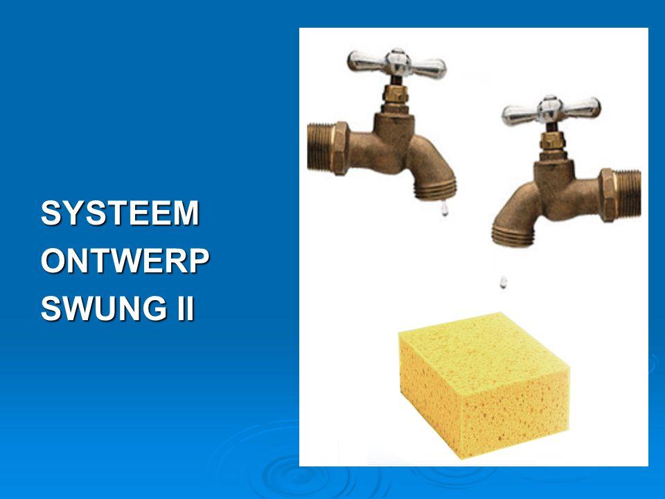 SYSTEEM ONTWERP SWUNG II Twee stopkranen en een spons