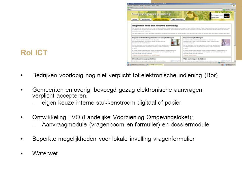 Rol ICT Bedrijven voorlopig nog niet verplicht tot elektronische indiening (Bor).