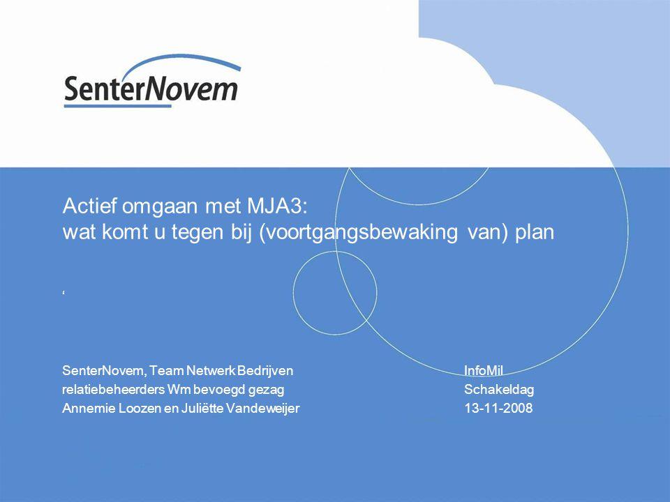 Actief omgaan met MJA3: wat komt u tegen bij (voortgangsbewaking van) plan