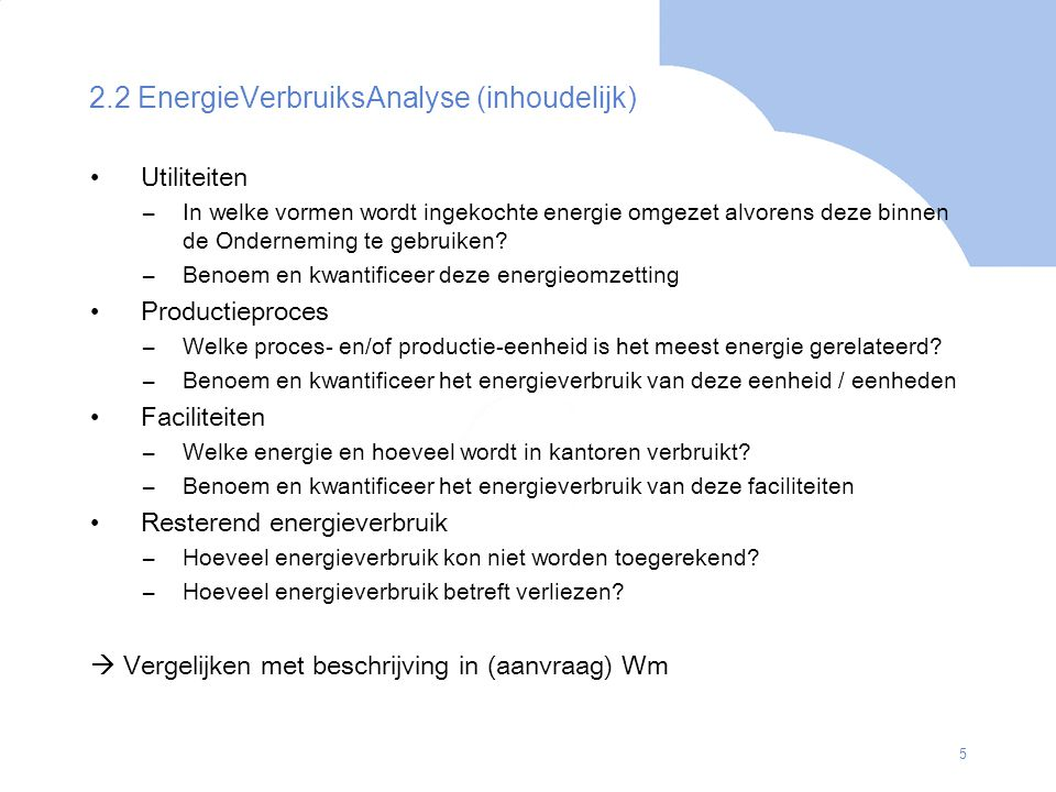 2.2 EnergieVerbruiksAnalyse (inhoudelijk)