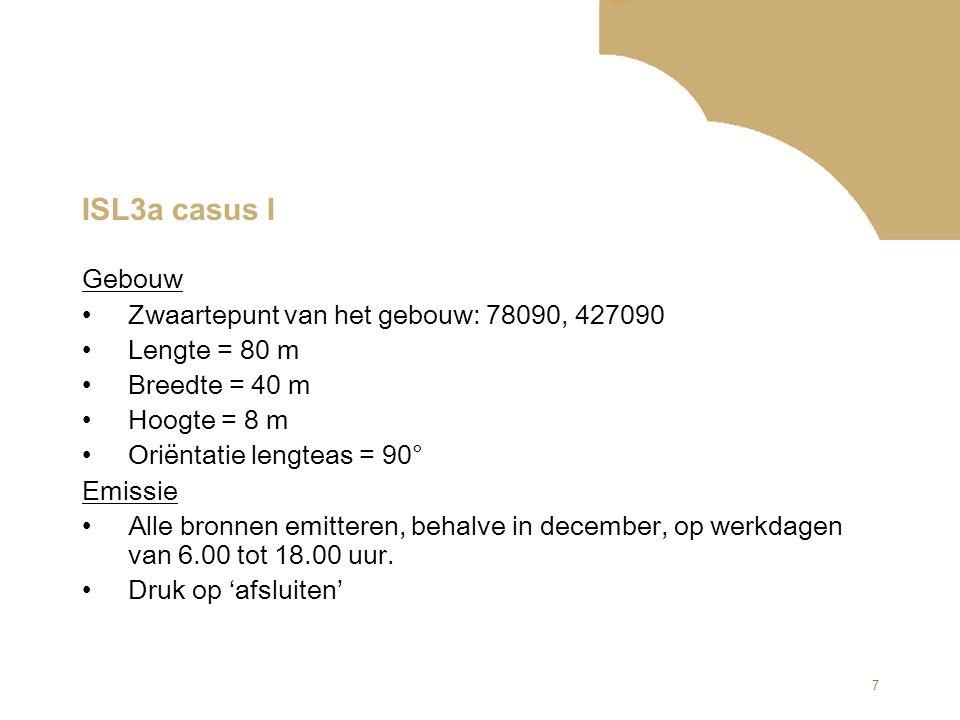 ISL3a casus I Gebouw Zwaartepunt van het gebouw: 78090, 427090