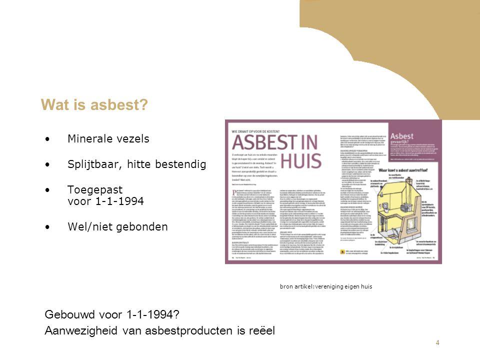 Wat is asbest Gebouwd voor 1-1-1994