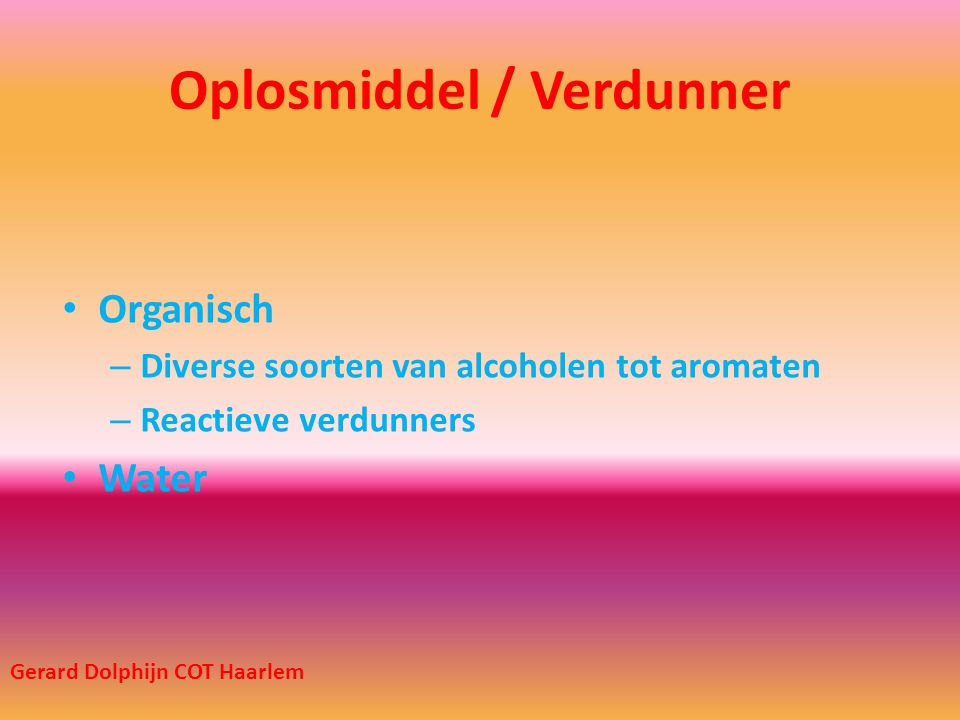Oplosmiddel / Verdunner